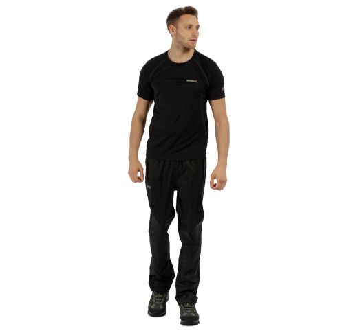 Regatta MEN'S PACK IT BREATHABLE WATERPROOF OVERTROUSERS - Black